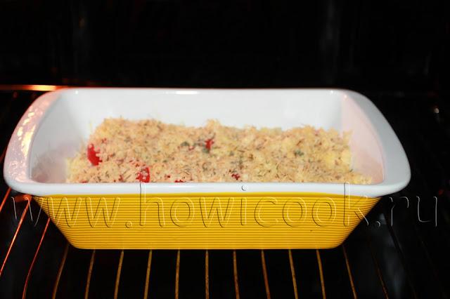 рецепт запеченного судака с помидорами и сыром с пошаговыми фото