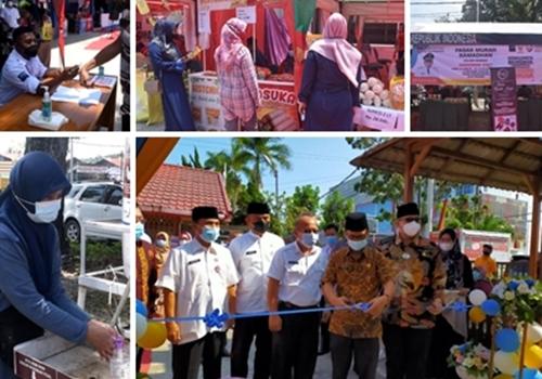 Gelar Pasar Murah, Dinas Perdagangan Kota Padang Wajibkan Masyarakat Patuhi Prokes