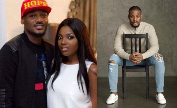 Check out 2face reactions after Alex Ekubo kiss his wife