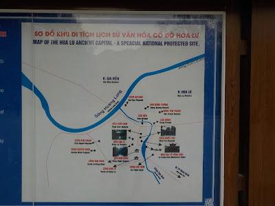 ホアルー(Hoa Lu)の地図(略図)