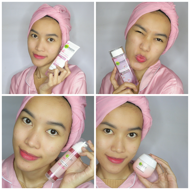 Garnier Sakura White Series - Day Routine