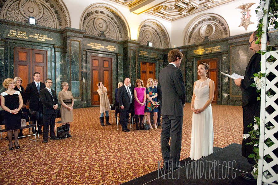 Chicago Cultural Center Wedding.The Vander Blog A Beautiful Civil Wedding Ceremony
