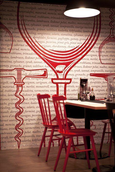 vinilo y sillas en rojo chicanddeco