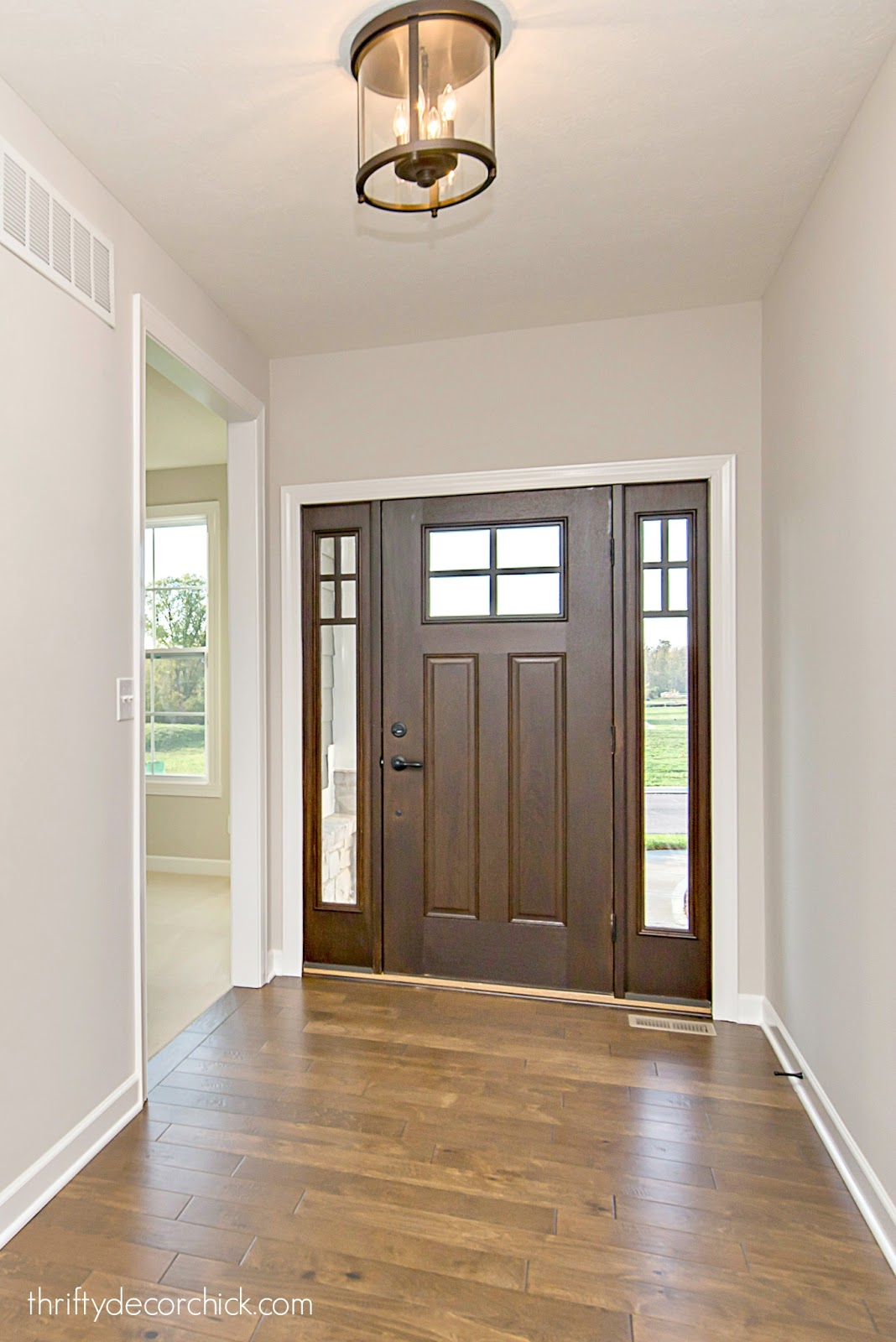 foyer with craftsman door