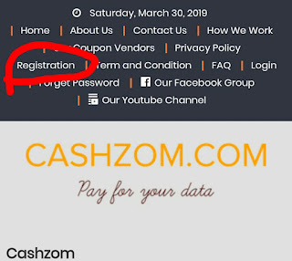 Cashzom review :Is cashzom scam, is cashzom legit,  how to register on cashzom,