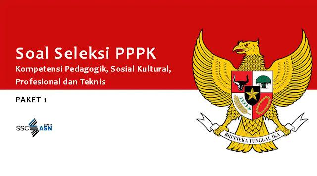 Soal Seleksi PPPK Kompetensi Pedagogik, Sosial Kultural, Profesional dan Teknis Paket 1