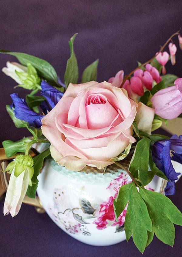Pink and Lilac Shabby Chic Close Up Rose
