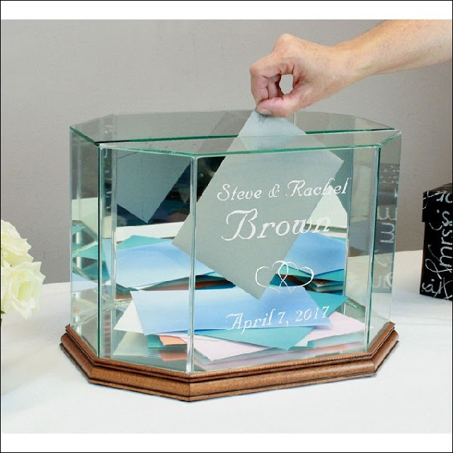 Glass Wedding Card Box glass wedding card box holder uk holders gift stained engraved personalized place