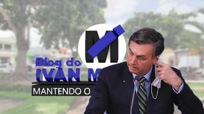 BOLSONARO QUER DESOBRIGAR USO DE MÁSCARA POR VACINAS