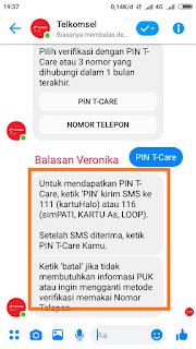 Menu PIN T-Care Telkomsel