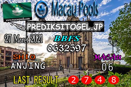 Prediksi Wangsit Togel Macau Sabtu 27 Maret 2021