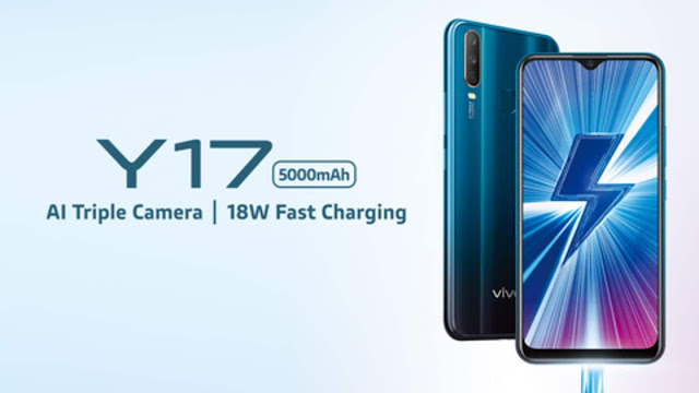 Vivo Y17 with MediaTek Helio P35, 5,000mAh battery launched at Rs. 17,990