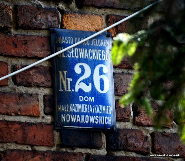 miasto ogród Jelonek Warszawa Warsaw Wola nazwy ulic tabliczki
