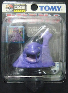Muk Pokemon figure Tomy Monster Collection black package series