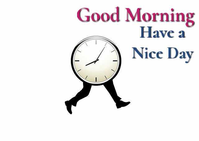 good morning clock image