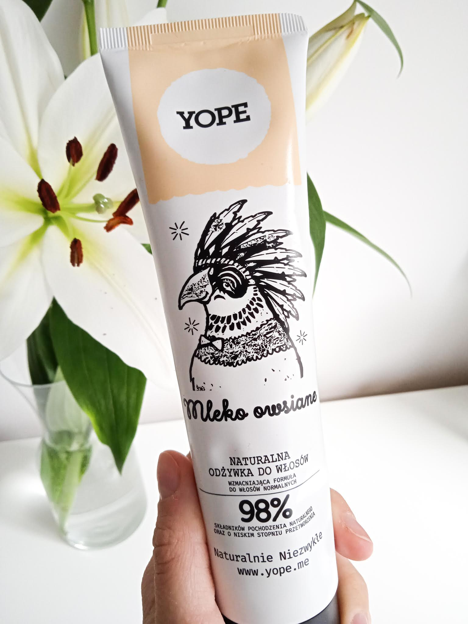 odżywka do włosów mleko owsiane yope