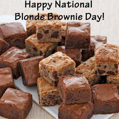 National Blonde Brownie Day Wishes Pics