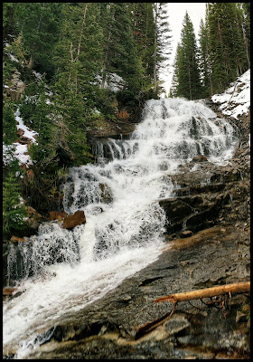 Gloria Falls Waterfall Little Cottonwood Canyon by Salt Lake City Utah
