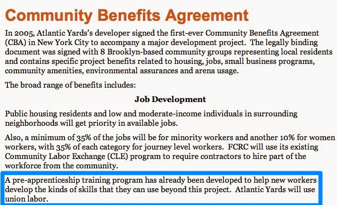 The Atlantic Yards Cba Promised A Path To Union Apprenticeships
