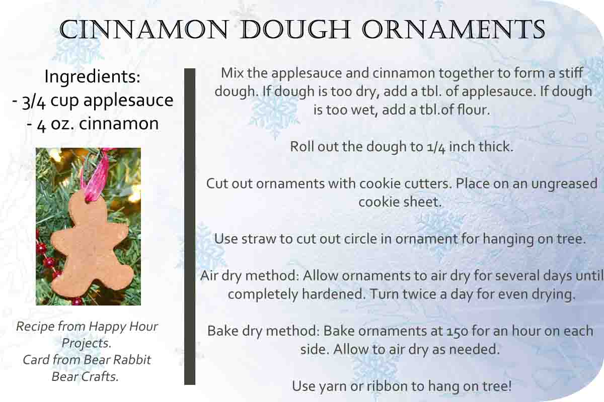 Cinnamon Dough Ornaments with Free Printable Recipe Card