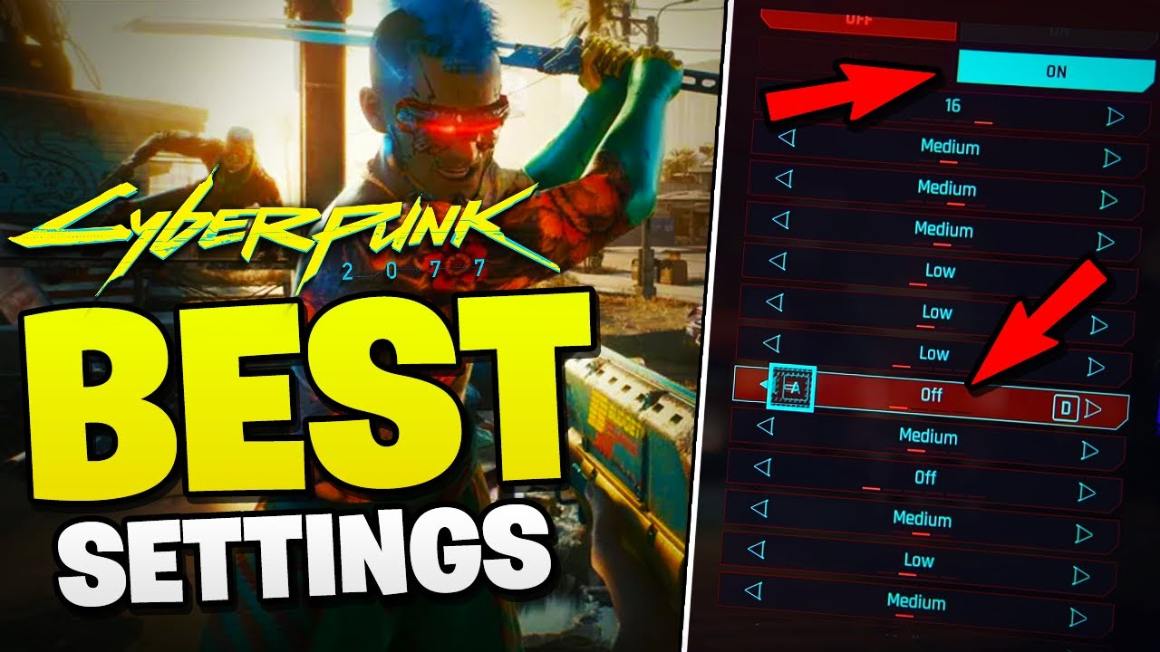 Graphics settings, how to increase FPS on PC in Cyberpunk 2077?