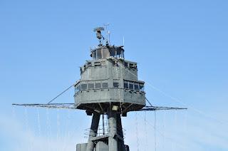 USS Texas mast top