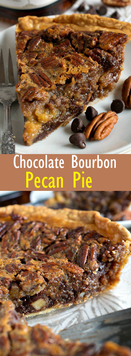The Best Chocolate Bourbon Pecan Pie