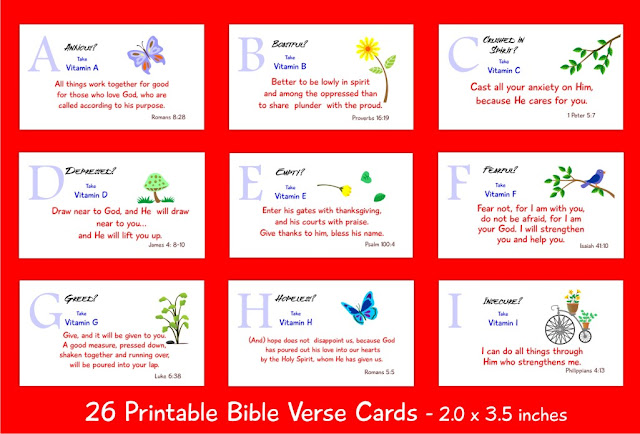 bible verse cards 26 spiritual vitamins