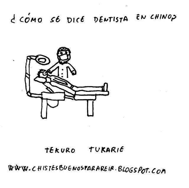¿Cómo se dice dentista en chino? Tekuro tukarie