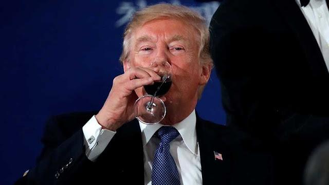 """""""¿Te imaginas si yo bebiera?"""": Trump asegura que jamás ha tomado alcohol"""