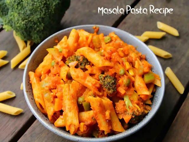 Delicious homemade Masala Pasta Recipe restaurant style