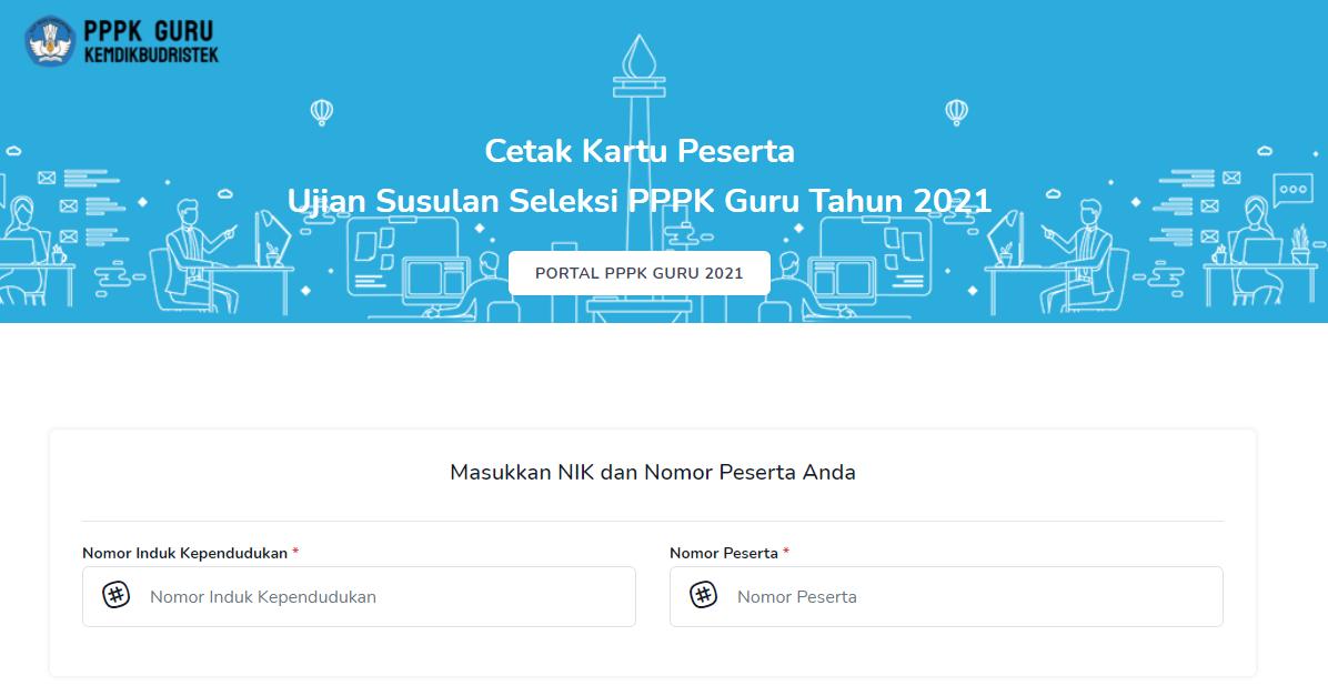 gambar kartu peserta ujian susulan pppk guru 2021