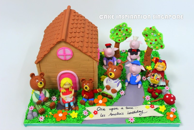 The Sensational Cakes Nursery Rhymes Theme Cakes 3d Cake Singapore