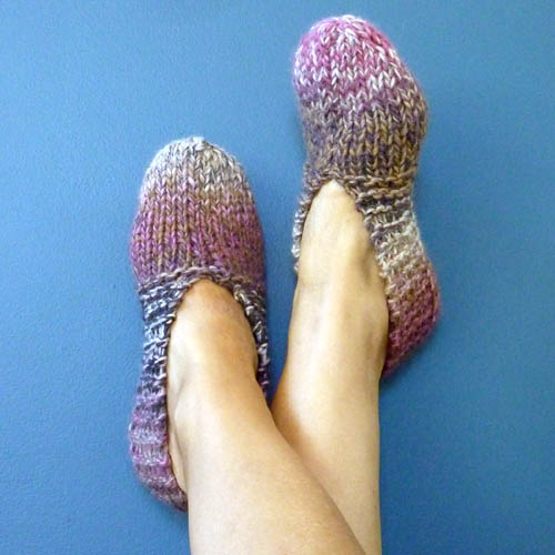Knitted Slippers - Free Pattern