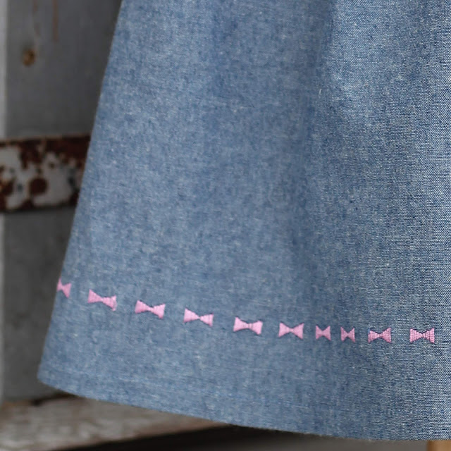 Pfaff Creative Icon's Floating stitches along the hem of New Look 6293