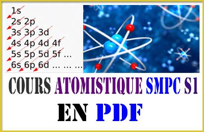 Cours Atomistique SMPC S1 (Excellent)
