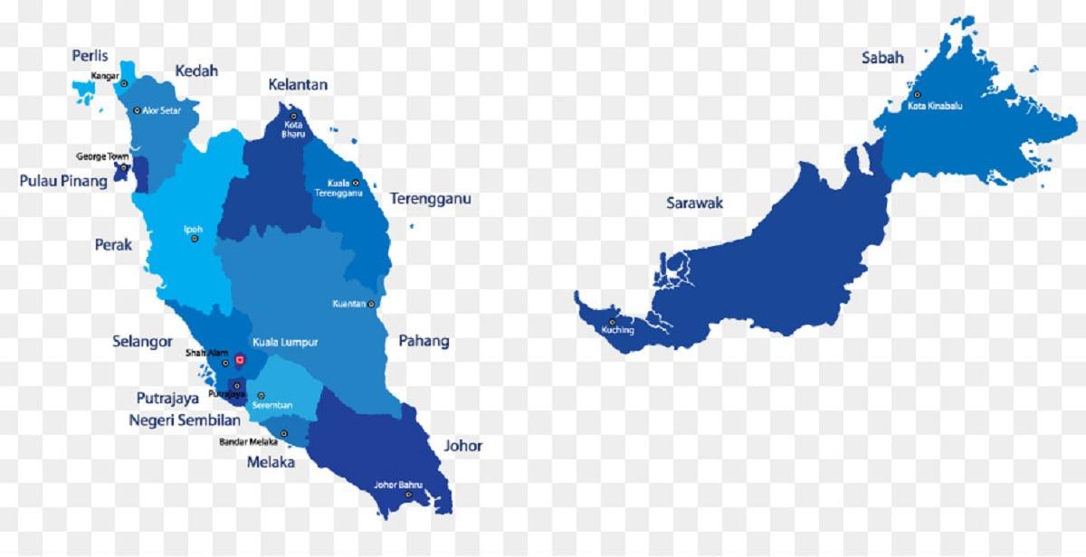 Peta Malaysia Vector