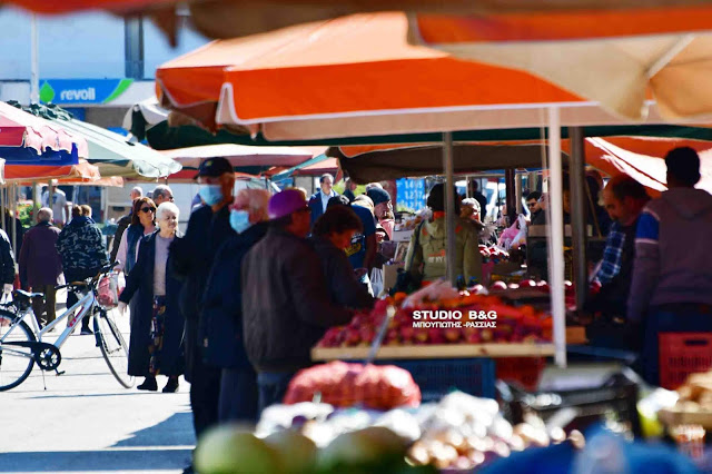 Αναστέλλεται η λειτουργία της λαϊκής αγοράς Ναυπλίου