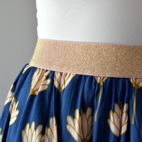 cozy birdhouse | margo skirt with dritz metallic waistband elastic