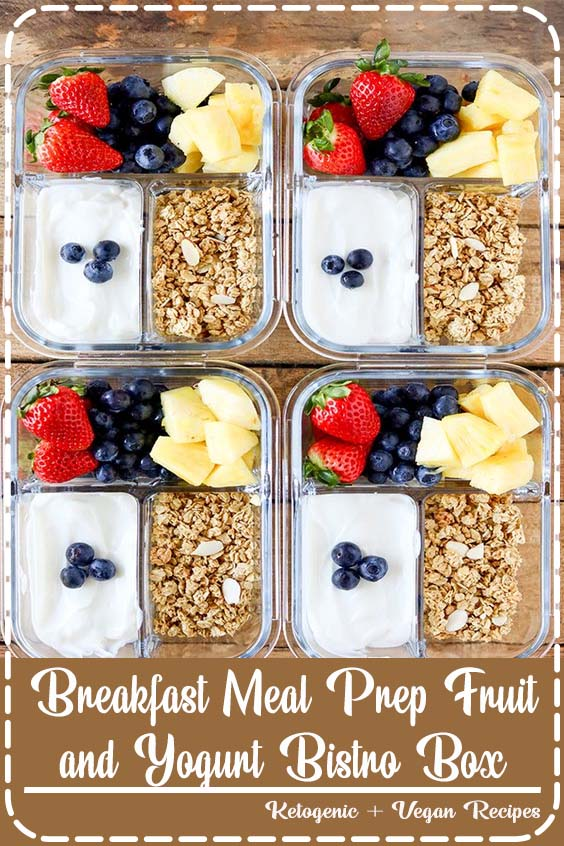 Breakfast Meal Prep is the best way to get your morning and week off a to a healthy start Breakfast Meal Prep Fruit and Yogurt Bistro Box
