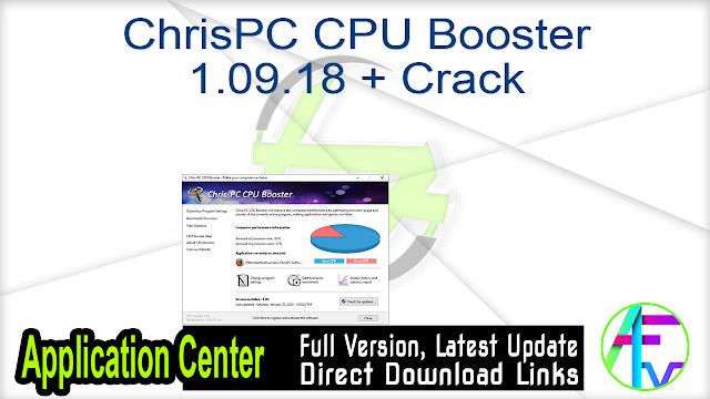 ChrisPC CPU Booster 1.09.18 + Crack