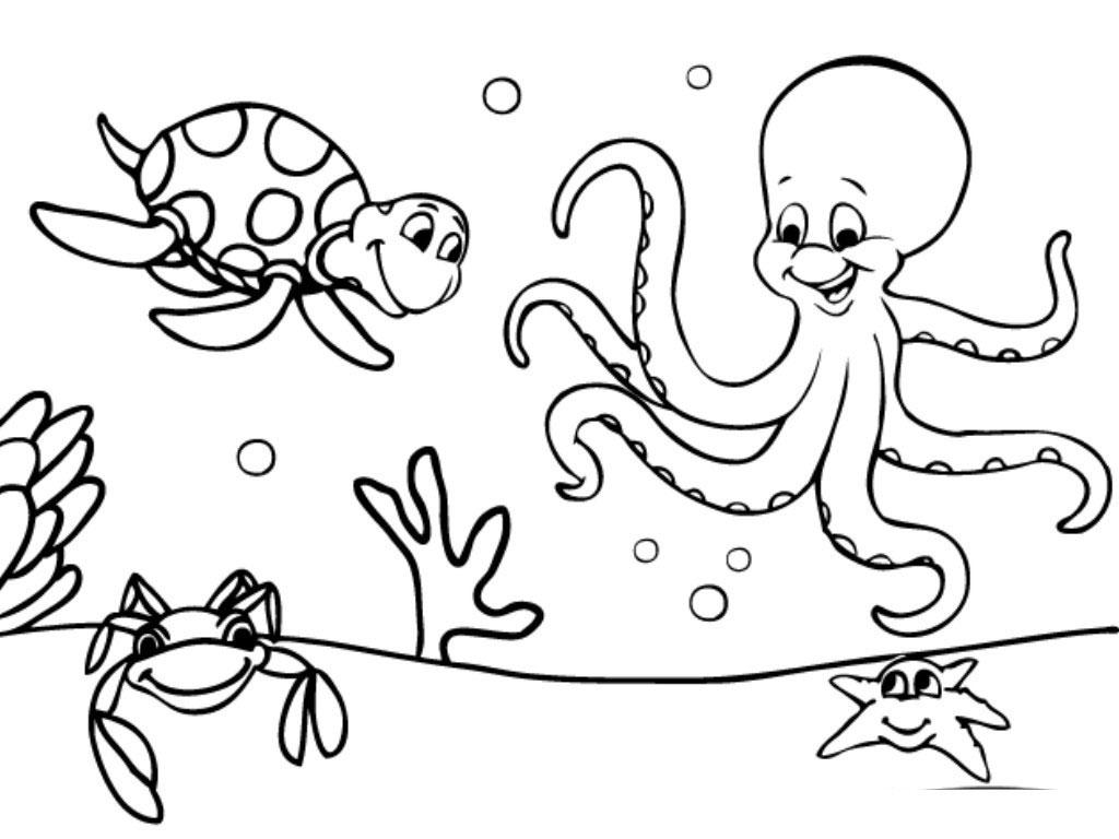 Mewarnai Hewan Laut