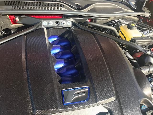 Engine detail in 2020 Lexus RC-F