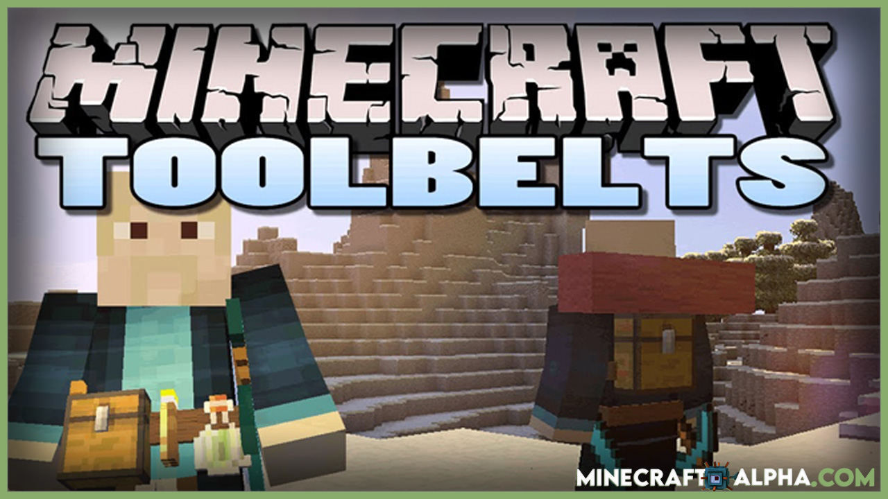 Minecraft Tool Belt Mod 1.17.1 (Show Off Your Items)