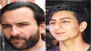 Saif Ali khan with his son