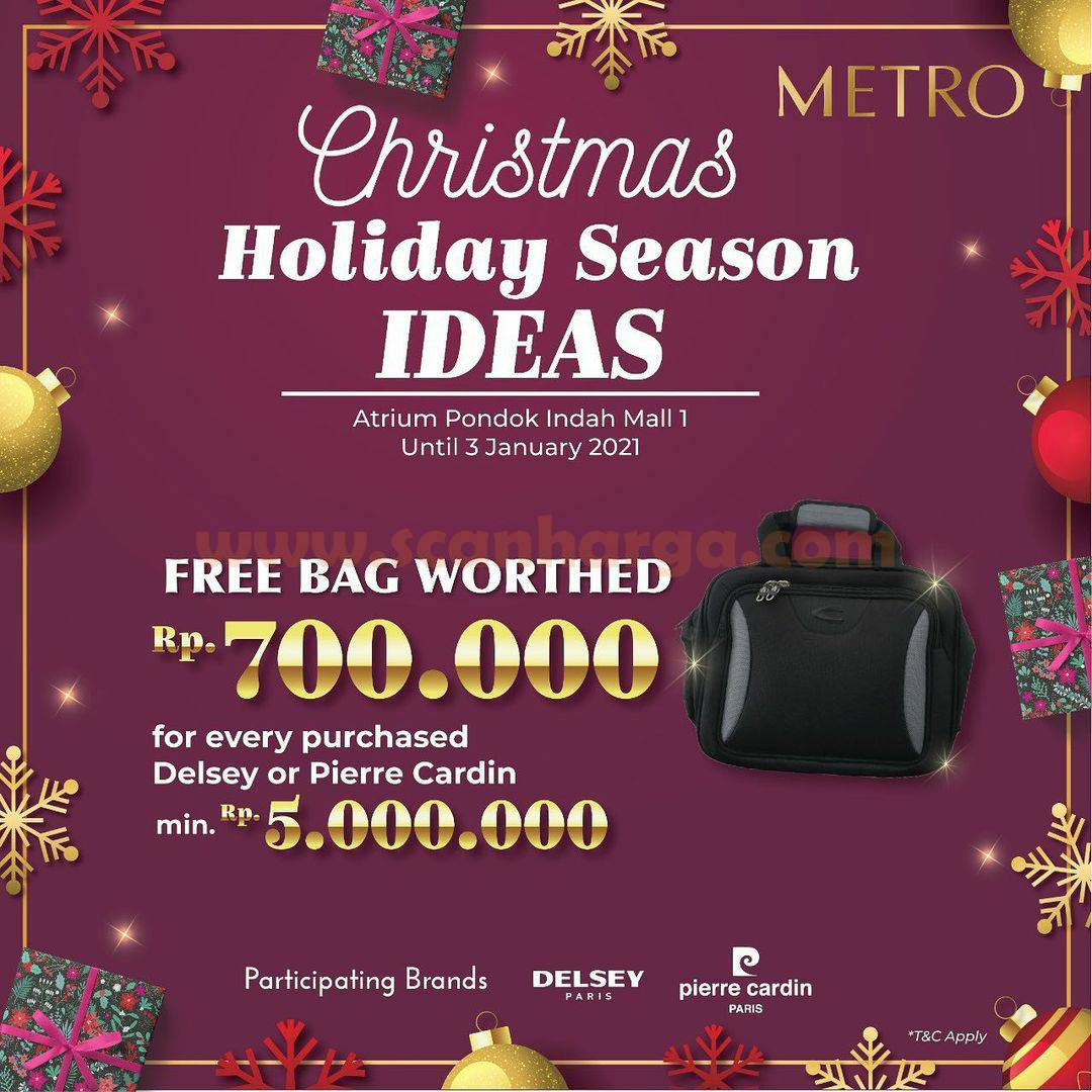 METRO Christmas Holiday Season Ideas  – Get Free Bag worth of Rp700.000,- at Atrium PIM 1
