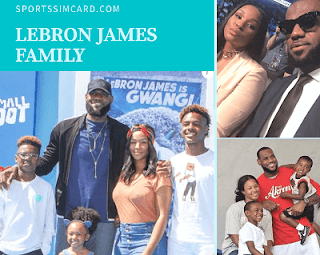 LeBron-James-with-his-wife-and-kids