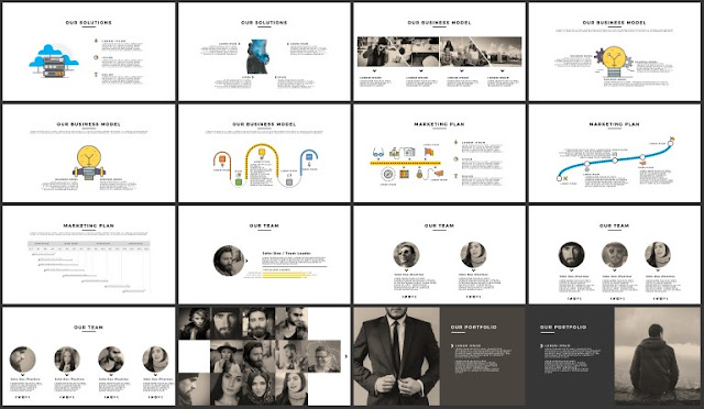 FREE 100+ Unique Slides Multi Purpose Premium Powerpoint Template 33-48