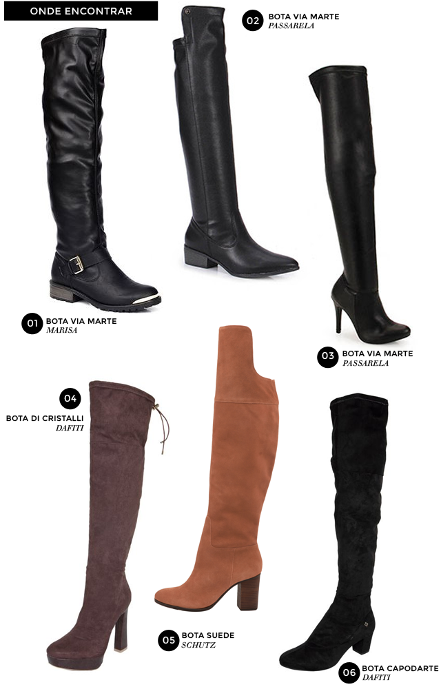 21c0cc30c Onde comprar: Botas Over The Knee - Trashy Fame | Moda, beleza e ...