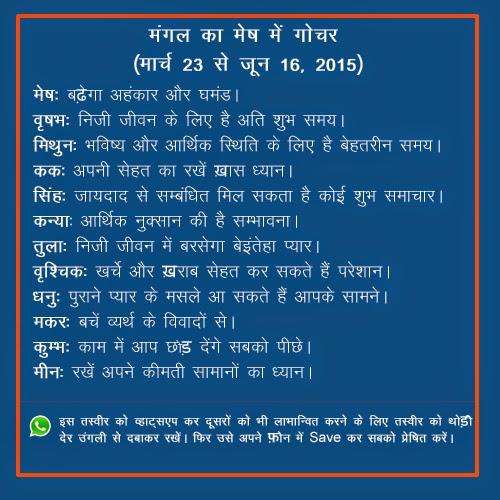Mangal ka mesh me gochar banega apke jeevan me chamatkar ka karan.